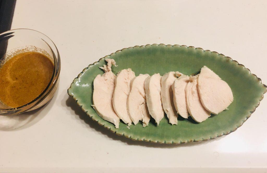 ゆで鶏~手作りドレッシングがけ~