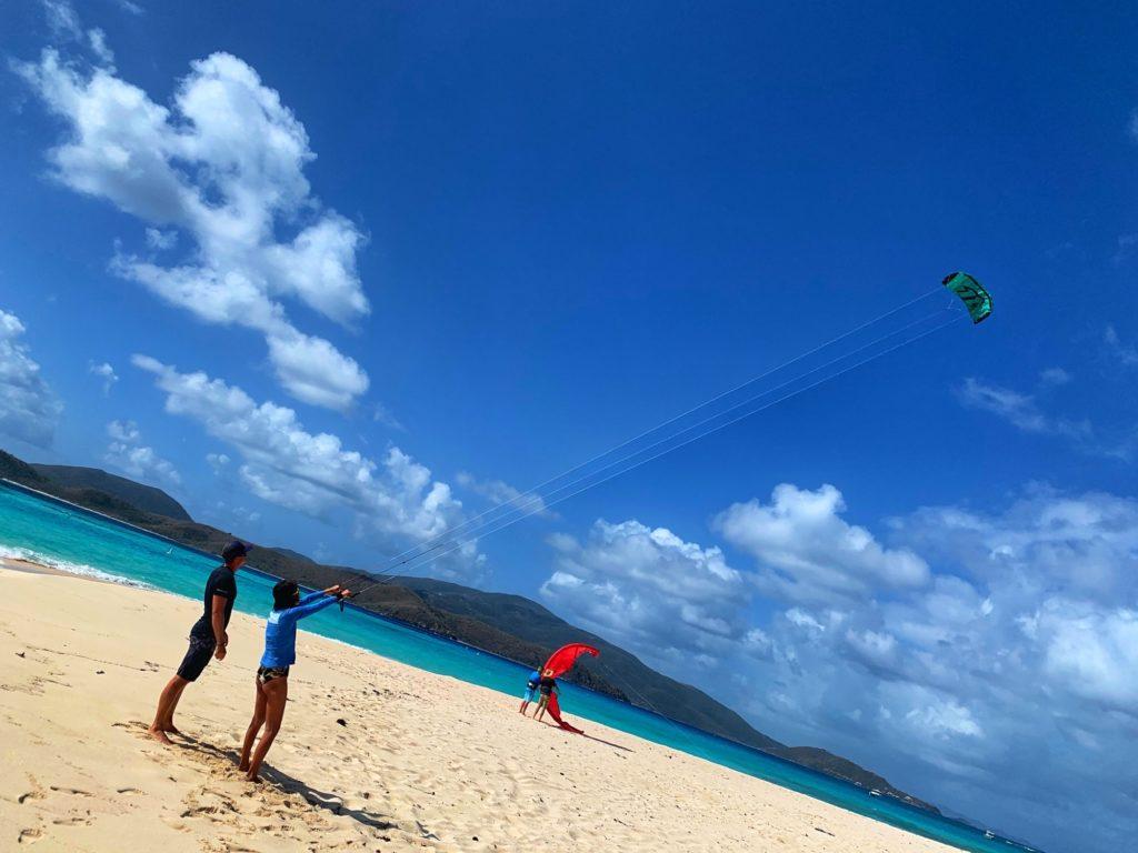 カリブ海のビーチでのひと時。