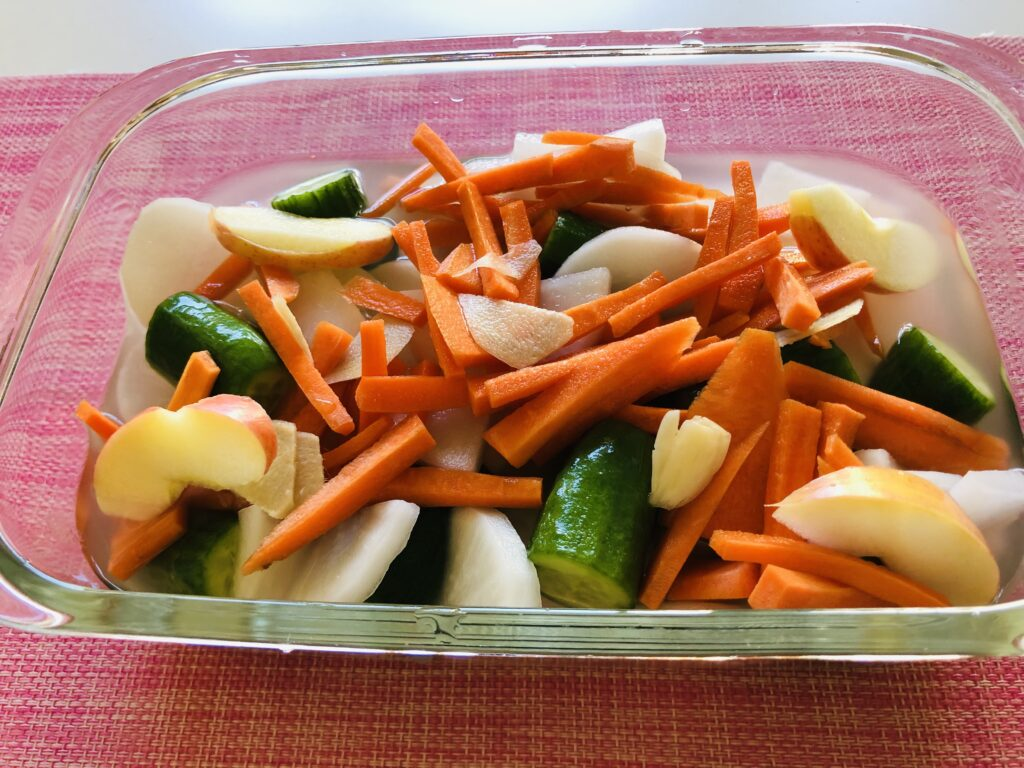 切った野菜