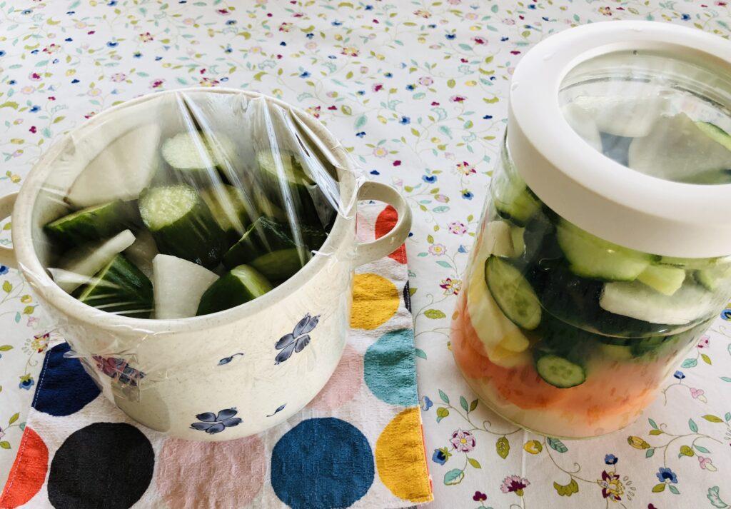 野菜を漬ける