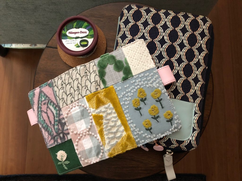 diary with a fabric cover