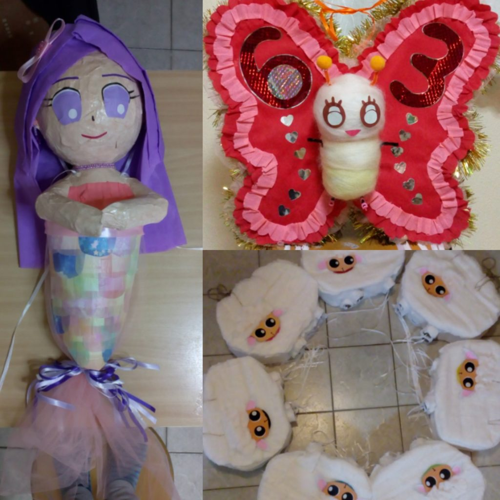 mermaid and butterfly pinata